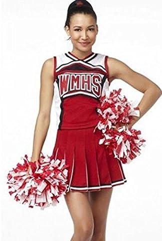 SEX WOMEN Vibrant Uniformes Rouges De L'École De Costume De Pom-Pom Girl De Baseball Sous-Vêtements Sexy ,xxl