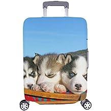Pequeño patrón Lindo Husky Siberiano al Aire Libre Spandex Maleta de Viaje Maleta Protectora de Viaje