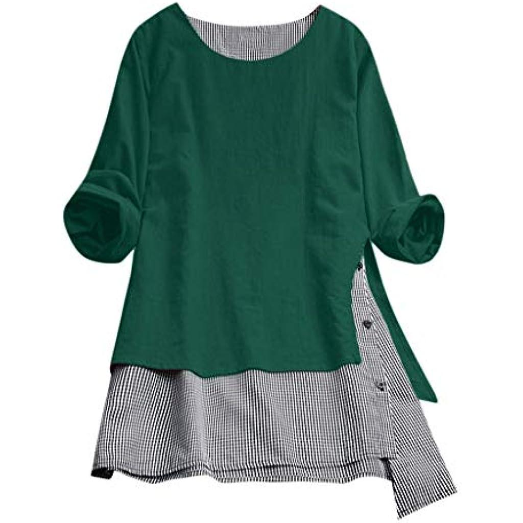 POLP Vestidos Vintage Mujer Vestidos Retro Manga Larga otoño Invierno 2019  Cuadros Vestido Blusa Algodón y Lino Vestidos Sueltos Vestido Mini Camisa  Tallas ... d7a9937d27a3