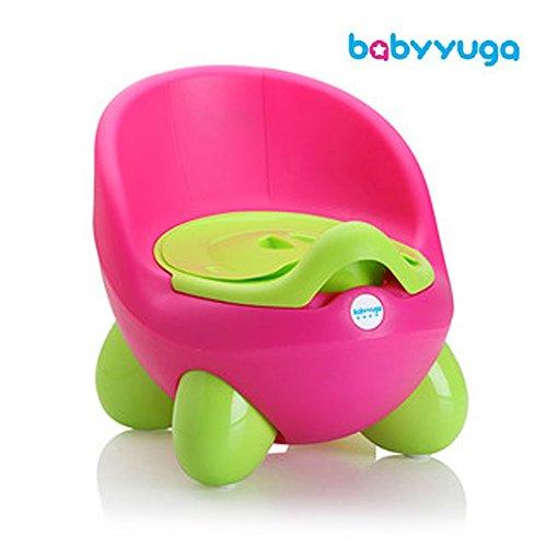 babyyuga orinal orinal de la silla bebé niños desmontable con tapa rosa rosa
