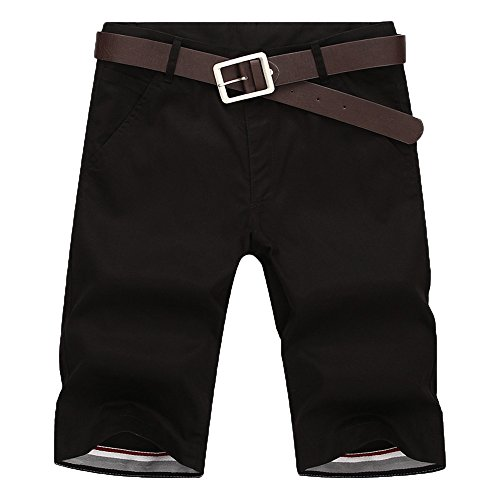 MOIKA Herren Freizeitshorts, Sommer Herren Jogg Everyday Shorts Sportshorts Knielang Kurze Hose Shorts Bermuda Shorts Kurzhose Sporthose Casual Shorts(XL,Schwarz)