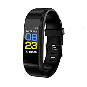 EvDay Fitness, Activity, Exercise Tracker, Blood Pressure, Heart Rate & Sleep Monitor, Step Pedometer & Calorie Counter, Touch Screen, IP67 Waterproof, Slim Smart Watch , Bluetooth, Gps, iOS & Android