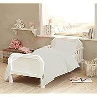 Adamlinens 2pc 100% Pure Egyptian Cotton Baby cot Bed Duvet/Quilt Cover Plain + Pillowcase Toddler 300 Thread Count Egyptian Cotton Size: 120x150 cm Single Colour Green