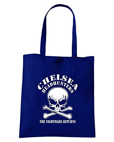 T-Shirtshock - Borsa Shopping TR0036 Chelsea Headhunters T-Shirt Fussball, Ultras, London, ACAB - blue Blu Navy