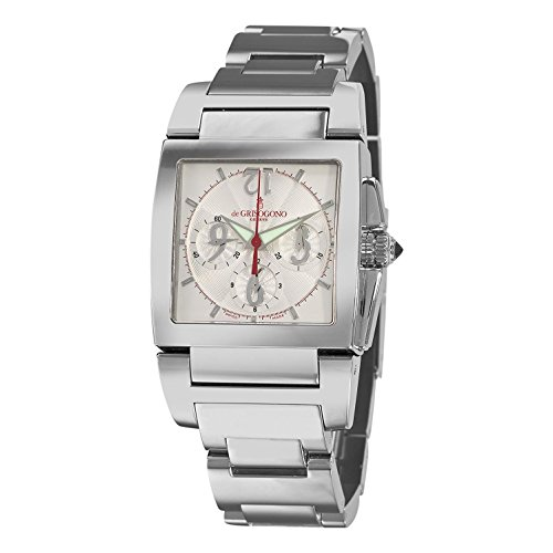 de GRISOGONO Men's 33mm Steel Bracelet & Case Automatic Watch CHRONO N02B