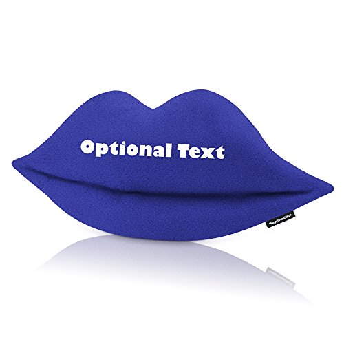 Personalisierte Lippen-Form Kissen, Fleece Fabric - Royal Blue, 70cm x 30cm