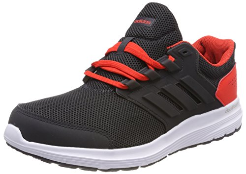 adidas Galaxy 4 m, Zapatillas de Running para Hombre, Negro Carbon/Hi-Res Red 0, 42 2/3 EU