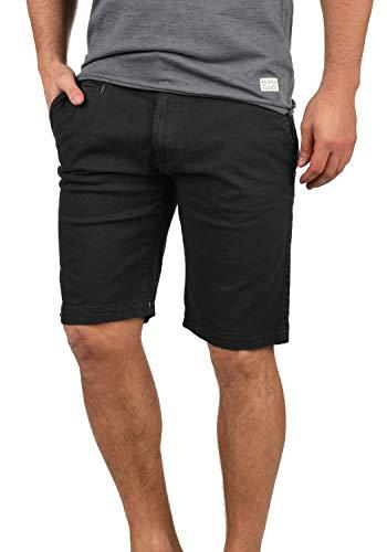 Indicode Miko Herren Chino Shorts Bermuda Kurze Hose Mit Stretch-Anteil Regular Fit, Größe:XXL, Farbe:Jet Black (978) - Metall-herren-shorts