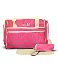 Todd Baby Official Brand New 3 Pc Paw Light Pink Quilted Bottle Holder Set Stylish Designed 13.8 X 15.8 X 2.8...