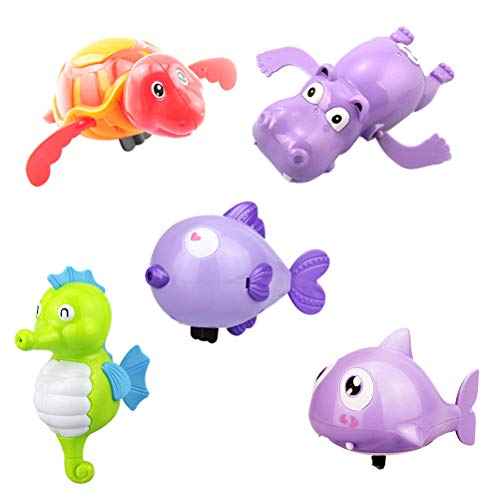 Toyvian 6Pcs Juguetes baño Piscina Wind Up Animales