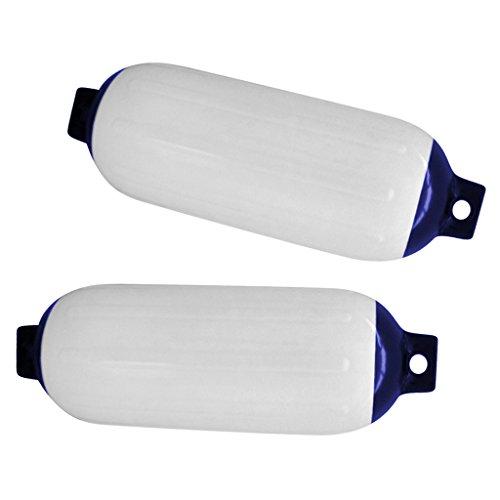 Almencla 2 Stü Schlauchboot Fender Cover, 4,5 X 15,5 Zoll, PVC Bumper Dock Schutz White \u0026 Blue -