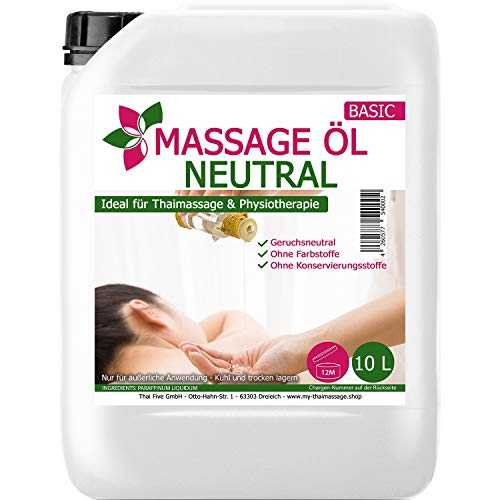 MyThaiMassage Massageöl Neutral & Soft 10-Liter (Thai-massage öl)