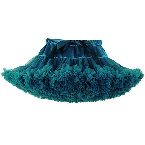 Xmiral Eltern-Kind Outfit Tüllröcke überlagerte Rüsche-Tulle-Ballett-Ballettröckchen-Rock(Grün)