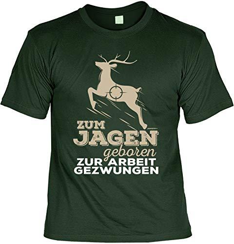 Freiheit Jagd-shirt (Jagd Jäger Hunter Shirt - Zum Jagen Geboren zur Arbeit Gezwungen - Jäger s Geschenk)