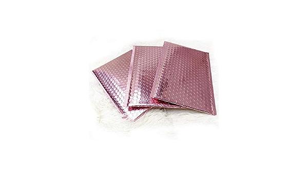250x Brillant Métallisé or Rose Feuille bulle rembourrés enveloppes 180x230mm vente!!!