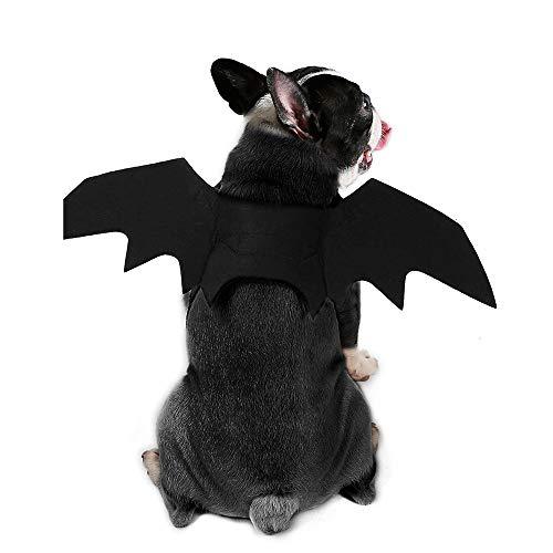 Haustier Kostüm Niedliche - LKIHAH Hundekleidung Niedliches Kleines Hundekleidungs-Haustier Fledermaus Kostüm Flügel Fledermaus Kostüm Halloween Cosplay Kostüm Für Halloween Vampire Party Haustier Kostüm,L