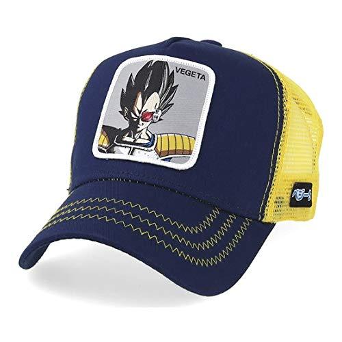 Collabs Gorra Dragon Ball Z Vegeta Trucker Azul OSFA (Talla única para Todos sexos)