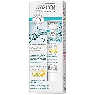 lavera Anti-Falten Augencreme Q10 ∙ Spendet intensive Feuchtigkeit ∙ Bio Malve & Sheabutter ∙ vegan ✔ Bio Pflanzenwirkstoffe ✔ Naturkosmetik ✔ Natural & innovative 15 ml