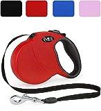 DDOXX Roll-Leine reflektierend in vielen Farben & Größen für kleine, mittlere, mittelgroße & große Hunde | Hundeleine, Katzenleine, Leine-Hund, Leine Flexi Bel | XS, 3m, bis 8 kg, Rot