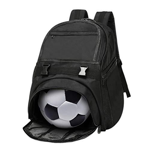 Kampre Wasserdichter Basketball Rucksack Gym Training Tasche mit verstellbarem Schultergurt Schwarz