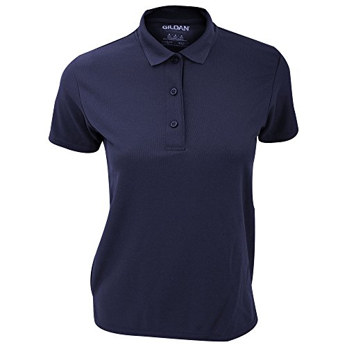 Gildan Performance - Polo in Doppio Piqué - Donna Blu navy
