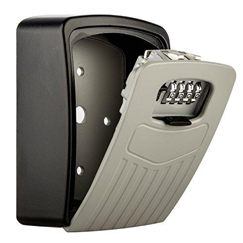 diyife Extra große Schlüssel Lock Box, [Verbesserte Version] [Wand montiert] Kombination Schlüssel Sichere Lagerung Lock Box mit starkem 4-stellige Schloss für Home Garage Schule Ersatz Haus Schlüssel und Auto Schlüssel