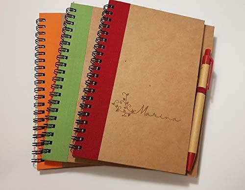 Quaderno con penna personalizzabile con nome o frase