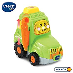 VTech- Víctor el Tractor TutTut Bólidos Vehículo Interactivo con Voz, música y Efectos de Sonido, Incluye botón Sorpresa, Multicolor (80-514322)