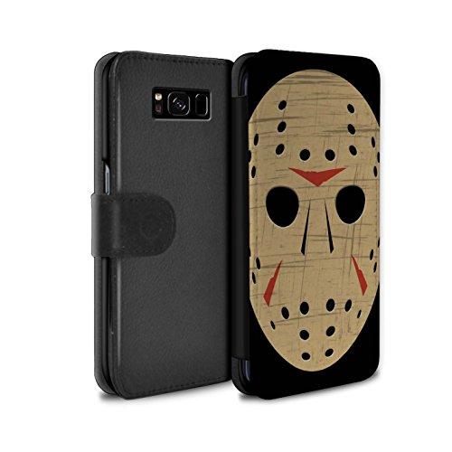 STUFF4 PU-Leder Hülle/Case/Tasche/Cover für Samsung Galaxy S8/G950 / Jason Vorhees Maske Inspiriert Muster / Grusel Filmkunst Kollektion