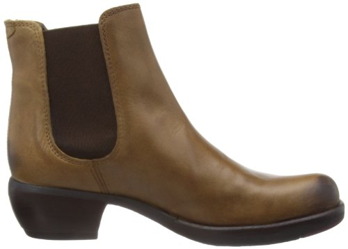 Fly London Make Stivali western, Donna Marrone (Camel 000)