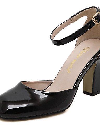 WSS 2016 Chaussures Femme-Mariage / Bureau & Travail / Habillé / Soirée & Evénement-Noir / Rose / Blanc-Gros Talon-Talons / Bout Carré / Bout Fermé pink-us5.5 / eu36 / uk3.5 / cn35