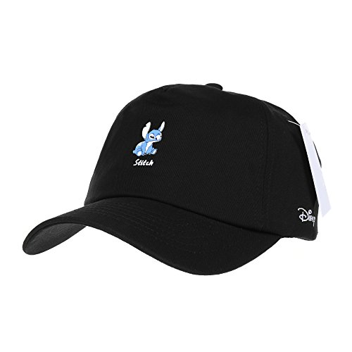 Disney Hat (WITHMOONS Baseballmütze Mützen Caps Disney Ball Cap Lilo and Stitch the Cutest Alien Hat CR1308 (Black))