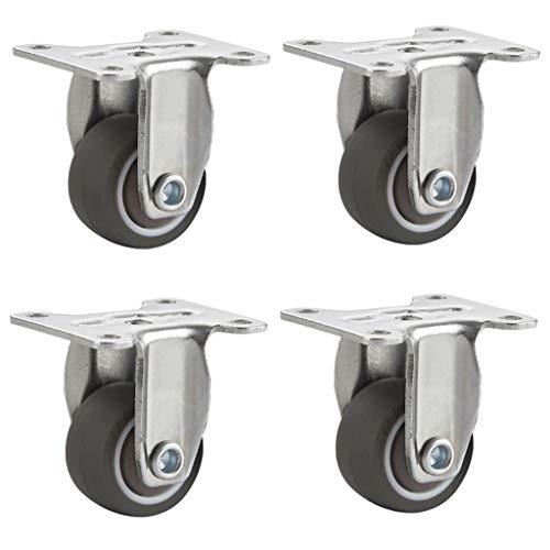 Unbekannt 1 Zoll direktional Rad stumm Rad Flat Rad Lager kleine riemenscheibe möbel Caster Tisch Rad (4 Paket) -