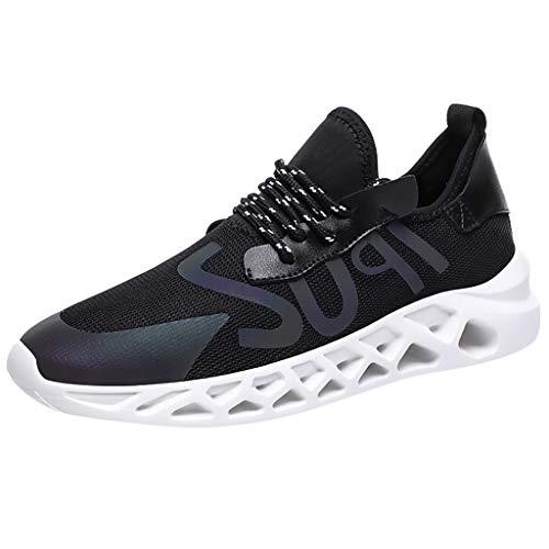 SuperSU-Sneaker ►▷ Sommer Sportschuhe Für Männer Lässiges Laufschuhe Mesh Leichte Atmungsaktive Reflektierend Turnschuhe Bequeme Herren Tennisschuhe für Running Fitness Gym Outdoor