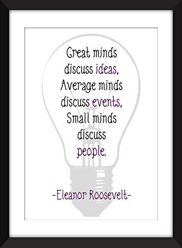 Eleanor Roosevelt Große Verstand Zitat A3 A4 A5 11 X14 8 X10 5 X7 Druck Typografie Grafik Great Minds