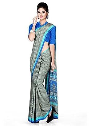 13b2774f94d029 Uniform Sarees Crepe Saree (46/015_Turquoise): Amazon.in: Clothing ...