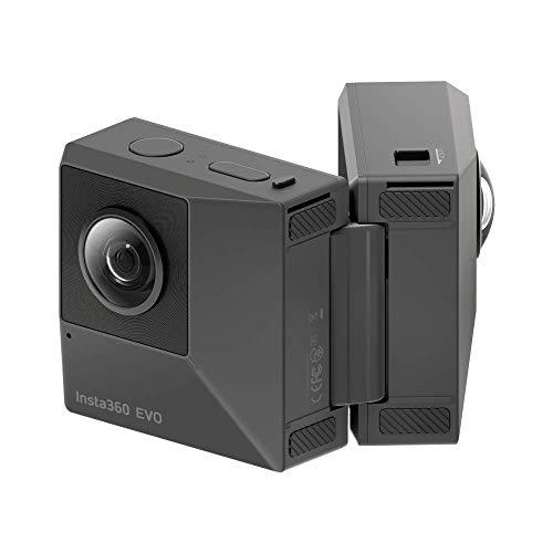 Insta360 EVO Action Camera 4K Ultra HD Cam FlowState Stabilisierung - 360 Grad 3D Action Sport Kamera Cam - kompatibel mit Apple iPhone und Android - 5,7k Video Auflösung - 18 MP - VR 3D Panorama