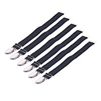 YiZYiF Unisex I & Y Style Elastic Garter Belts Corset Holders Stockings Fastener Suspender 6 Pcs I Style with Metal Clip One Size