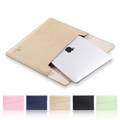 12 inch Laptop Case, Avril Tian Slim Laptop Sleeve MacBook-Tasche, Weichem PU Leder Notebook Tasche, der Schutzhülle für alle 12 inch Display PC,Nicht für 11 inch und 11,6 Zoll Laptops -
