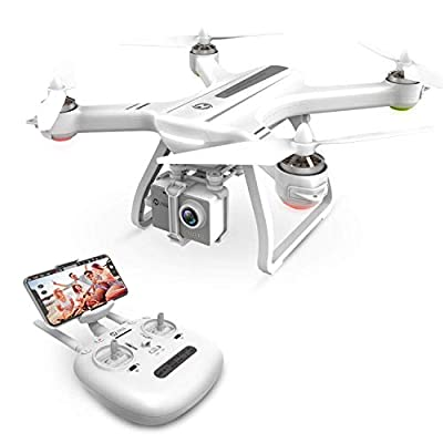 Holy Stone HS700 FPV Drone with 1080p HD Camera Live Video and GPS Return Home RC Quadcopter for Adults Beginners with Brushless Motor, Follow Me,5G WiFi Transmission, Fit with GoPro,Color White