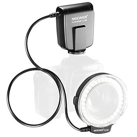 Neewer FC100 32 Super heller LED-Makro Ringblitz für Canon, Nikon, Olympus, Pentax SLR-Kameras (geeignet für 52, 55, 58, 62, 67, 72, 77mm Objektive) Canon EOS Rebel T1i (500D), T2i (550D) (400D), XTI (350D), 60D, 50D, 40D, 30D, 20D, 10D, 1D, 5D Mark 2, 5D Mark 3, Nikon D7000, D3200, D3100, D5100,