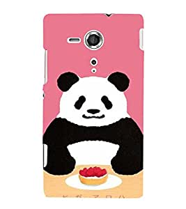 EPICCASE Panda food Mobile Back Case Cover For Sony Xperia SP (Designer Case)