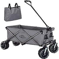 Pour les voyages, dans le jardin ou sur un chantier, ce chariot pliable de TecTake est le choix idéal pour presque tous les besoins de transport. Ce chariot à main robuste va facilement traiter des charges jusqu'à huit fois son propre poids. Les pneu...