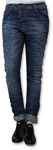 Please Boyfriends Slim-Jeans, Blau, S