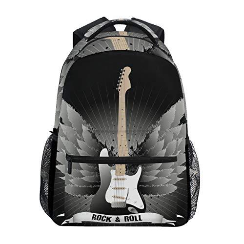 Guitarra Rock Roll Mochila Escolar Impermeable Mochilas Escolares para Estudiante Adolescentes Niñas Niños