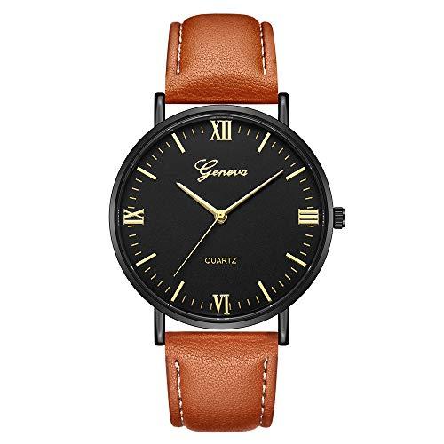 LILIGOD Männer und Frauen Quarz Analog Armbanduhr Geneva Classic Uhr Hot Luxury Uhren Business Armband Gürteluhr Damen Edelstahl Analog Quarzuhr Freizeit Elegant Wild Armbanduhren