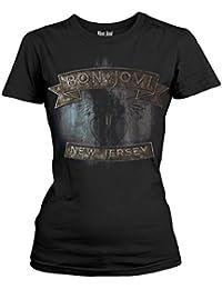 Bon Jovi 'New Jersey' Womens Fitted T-Shirt
