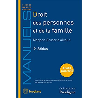 Droit des personnes et de la famille