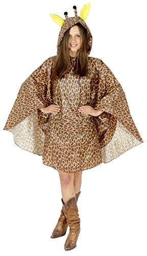 Foxxeo Giraffen Party Poncho für Damen und Herren zu Karneval Fasching Party Regen Schnelles Kostüm (Schnelle Kostüm Für Eine Party)
