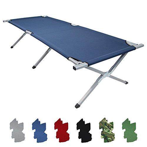 Feldbett HOLIDAY LITE 200 x 70 x 45 cm Gästebett aus Aluminium Camping-Bett in vielen Farben
